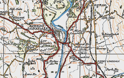 Old map of Kirkby Lonsdale in 1925