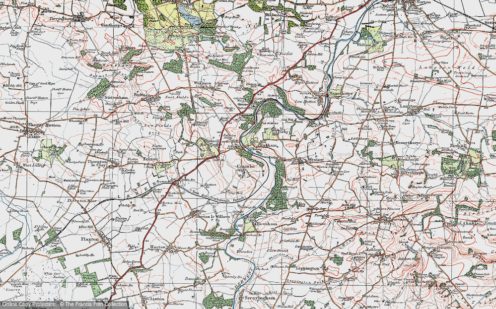 Old Map of Kirkham, 1924 in 1924