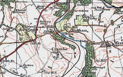 Old map of Kirkham in 1924