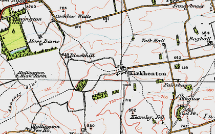 Old map of Toft Hall in 1925