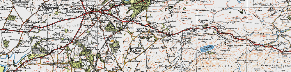 Old map of Williamgill in 1925