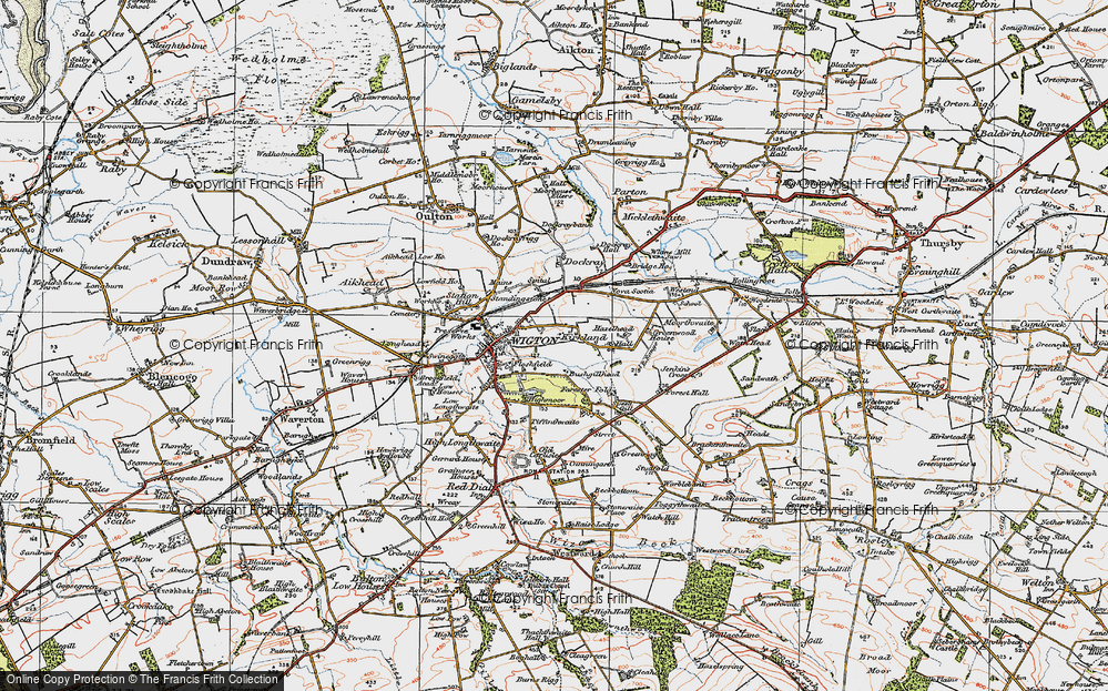 Old Map of Historic Map covering Tiffenthwaite in 1925