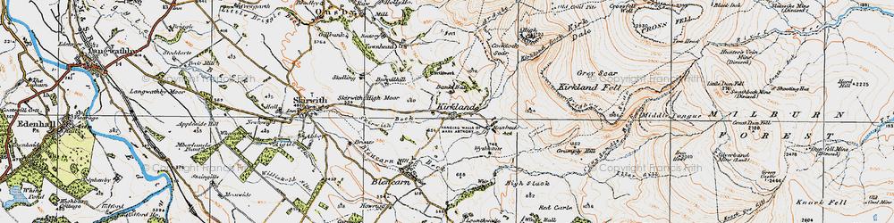 Old map of Wildboar Scar in 1925