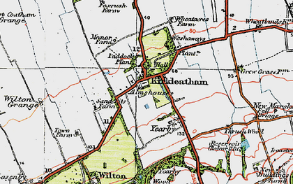Old map of Yearby Wood in 1925
