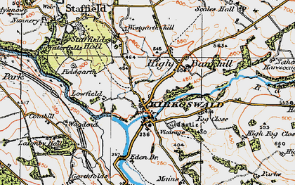 Old map of Westgarth Hill in 1925