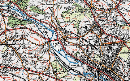 Old map of Kirkstall in 1925