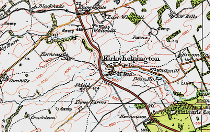 Old map of Whitridge Well in 1925