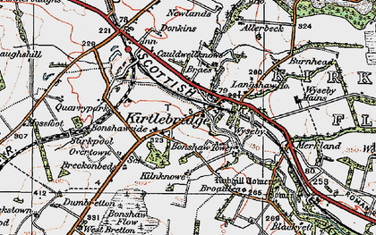 Old map of Wyseby in 1925