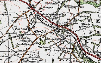 Old map of Kirtlebridge in 1925