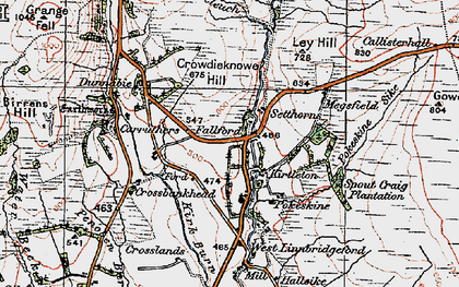 Old map of Lauriesclose in 1925