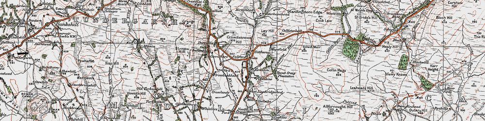 Old map of Winterhope Reservoir in 1925