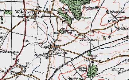 Old map of Laxton Common in 1923