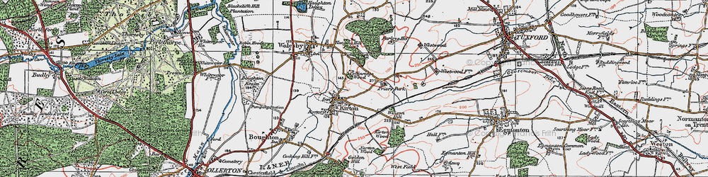 Old map of Winson Hill in 1923