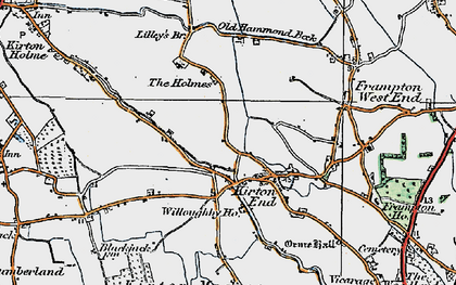 Old map of Baker's Br in 1922