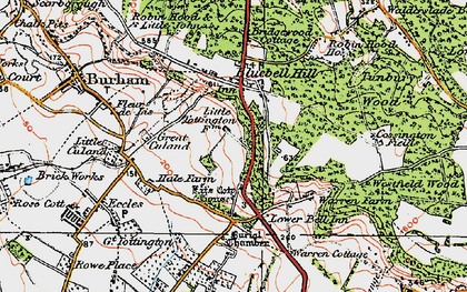 Old map of White Horse Stone in 1921
