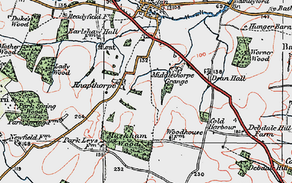 Old map of Averham Park in 1923