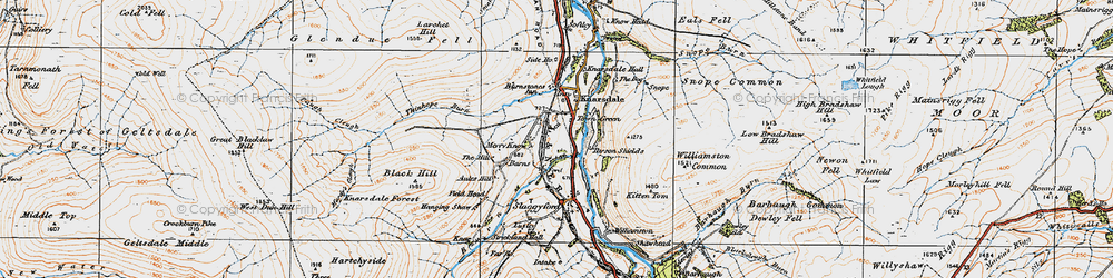 Old map of Williamston Common in 1925