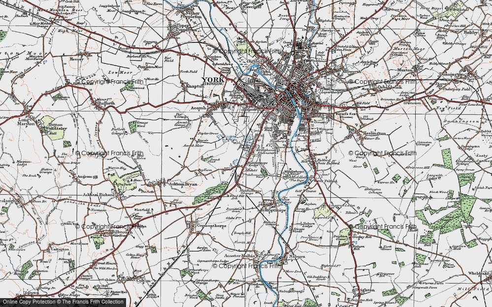 Old Map of Knavesmire, 1924 in 1924
