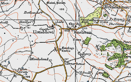 Old map of Knelston in 1923
