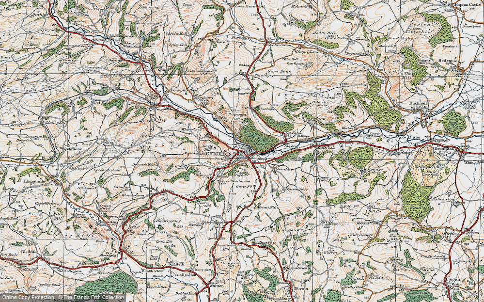 Old Map of Knighton, 1920 in 1920
