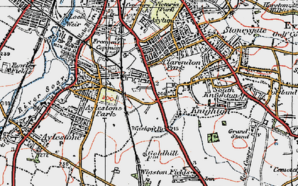 Old map of Knighton in 1921