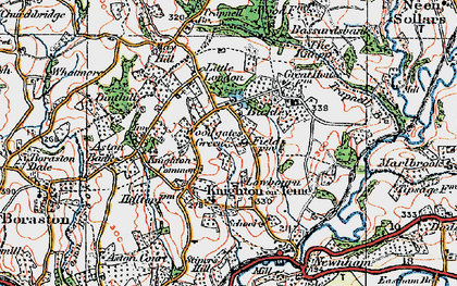 Old map of Knighton on Teme in 1920