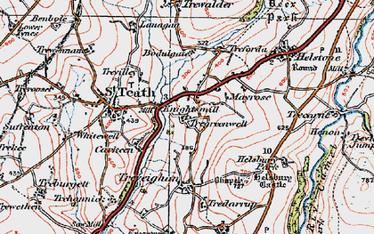 Old map of Knightsmill in 1919