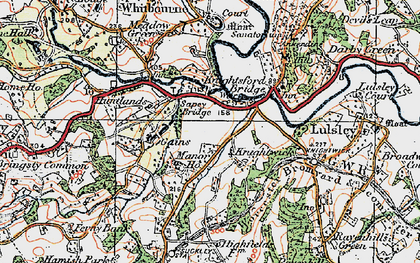 Old map of Knightwick in 1920