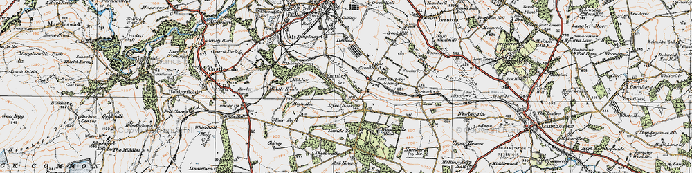 Old map of Woodlands Hall in 1925