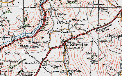 Old map of Wigber Low in 1921