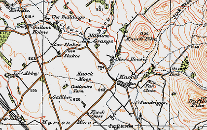 Old map of Knock in 1925