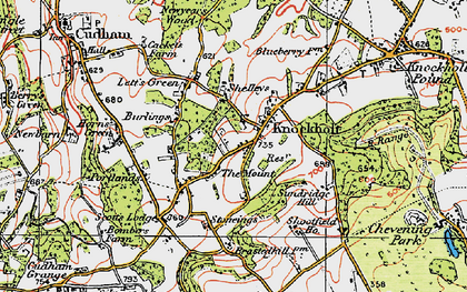 Old map of Knockholt in 1920