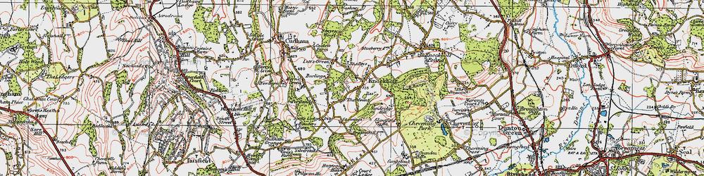 Old map of Knockholt in 1920