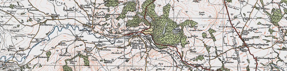 Old map of Whitefield Edge in 1925