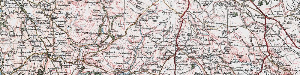 Old map of Whetstone Ridge in 1923