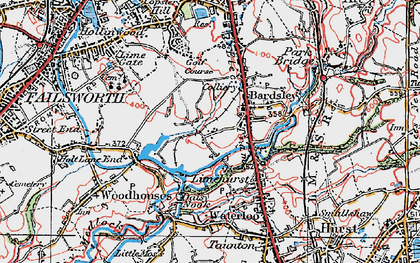 Old map of Bardsley House in 1924