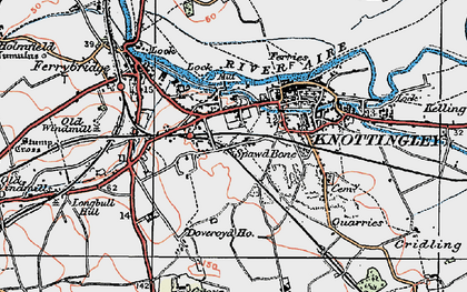 Old map of Knottingley in 1924