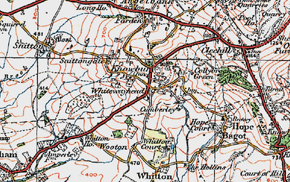 Old map of Whitewayhead in 1921