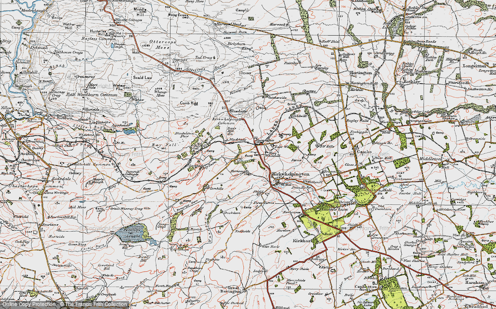 Old Map of Historic Map covering Larkhall in 1925
