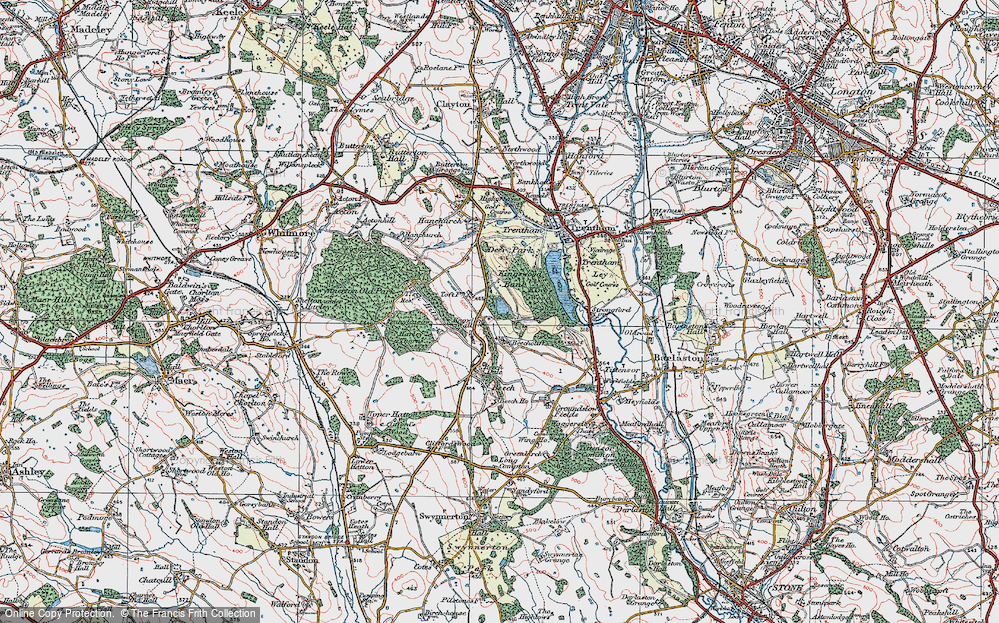 Old Map of Historic Map covering Toft, The in 1921