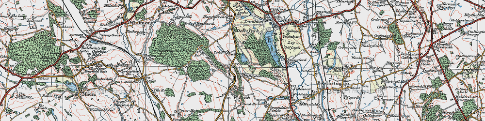 Old map of Toft, The in 1921