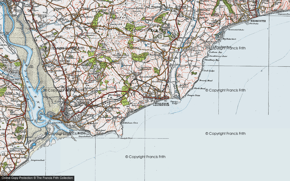 Old Map of Historic Map covering Leeford in 1919