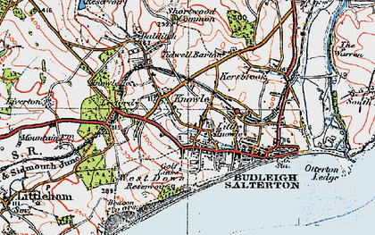 Old map of Leeford in 1919