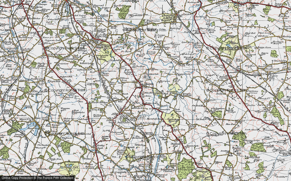 Old Map of Knowle, 1921 in 1921