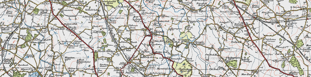 Old map of Knowle in 1921