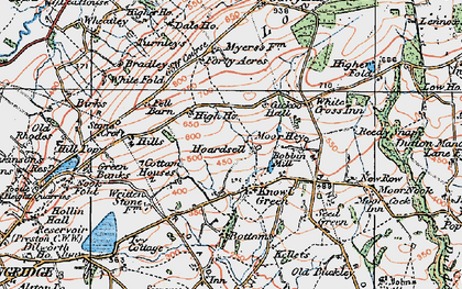 Old map of White Fold in 1924