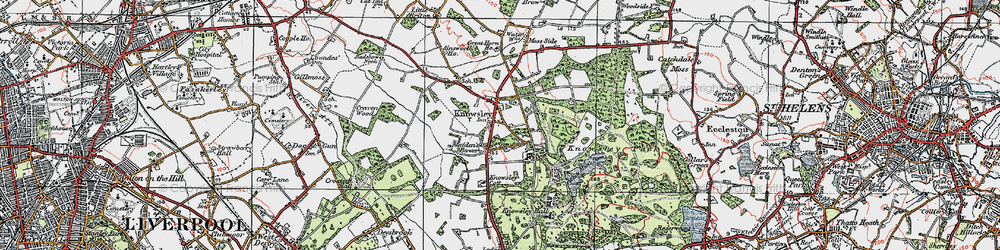 Old map of Knowsley in 1923