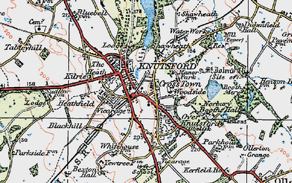 Old map of Knutsford in 1923