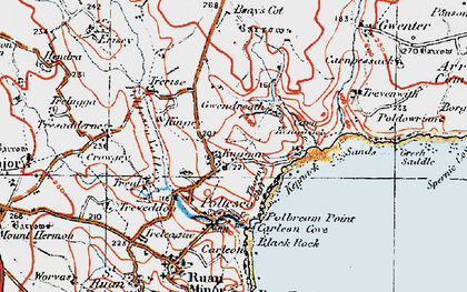 Old map of Kuggar in 1919