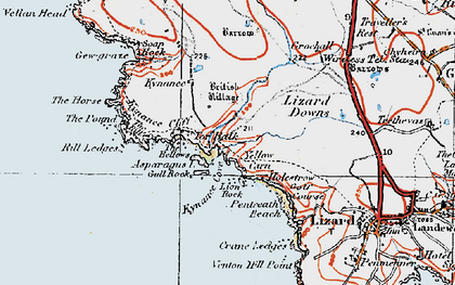 Old map of Asparagus Island in 1919